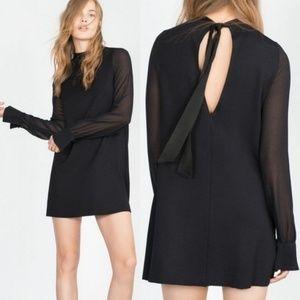 Zara W/B collection - M - Black long sleeve dress